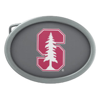 """Bloque cardinal """"S"""" con el árbol 3 Hebilla Cinturón Oval"""