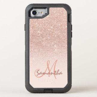 Bloque color de rosa moderno del rosa del ombre funda OtterBox defender para iPhone 7
