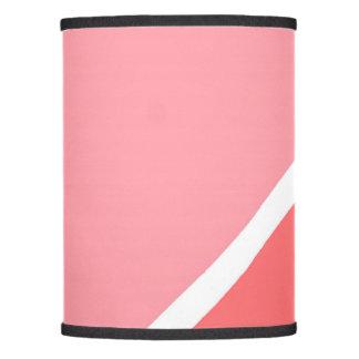 Bloque coralino rosado geométrico moderno del pantalla de lámpara