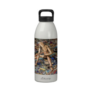 Bloque creativo botella de agua
