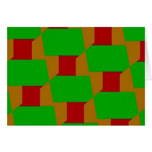 Bloque de árboles tarjeta de felicitación
