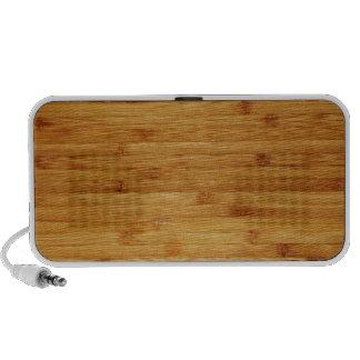 Bloque de carnicero de bambú portátil altavoces