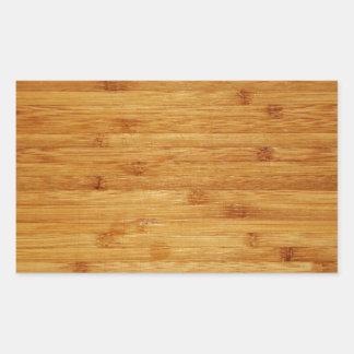 Bloque de carnicero de bambú rectangular altavoz