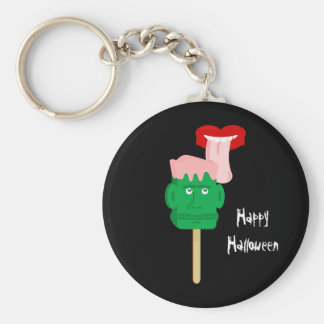 Bloque de hielo de Halloween Frankenstein Llavero Redondo Tipo Pin