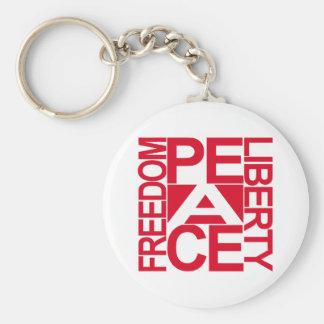 Bloque de la libertad de la libertad de la paz llavero personalizado
