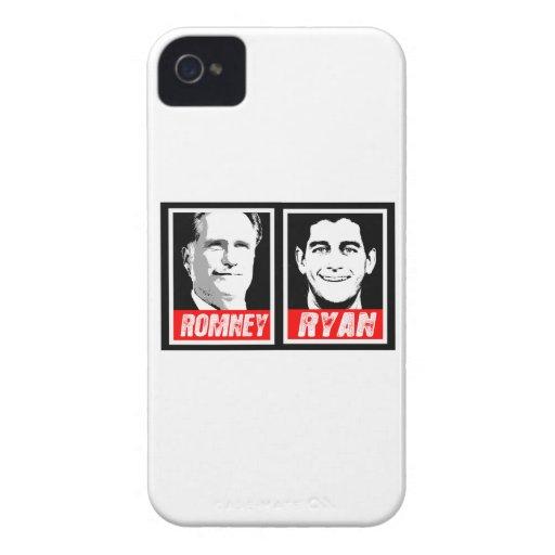 BLOQUE DE LA TINTA DE ROMNEY RYAN iPhone 4 FUNDAS