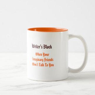 Bloque de los escritores - cuando su. café del taza de dos tonos