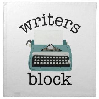 Bloque de los escritores servilleta imprimida