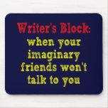 Bloque de los escritores: tapete de ratón
