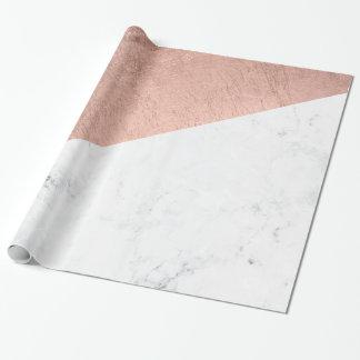 Bloque de mármol blanco del color del oro color de papel de regalo