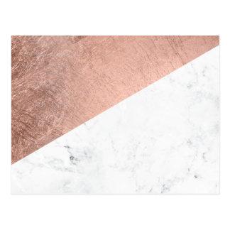 Bloque de mármol blanco del color del oro color de postales