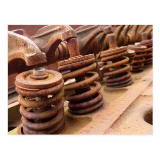 Bloque de motor oxidado postal