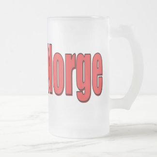 bloque de Norge de la taza del vidrio esmerilado 1