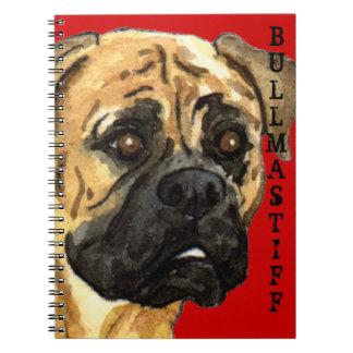 Bloque del color de Bullmastiff Notebook