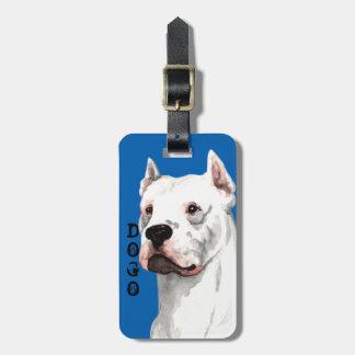 Bloque del color de Dogo Argentino Etiquetas Para Maletas