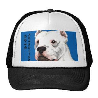 Bloque del color de Dogo Argentino Gorros