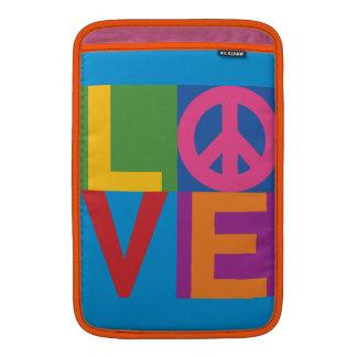 Bloque del color de la paz del amor funda para macbook air