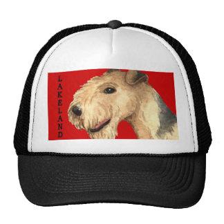 Bloque del color de Lakeland Terrier Gorras De Camionero