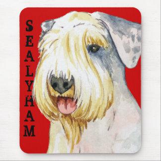 Bloque del color de Sealyham Terrier Tapetes De Raton