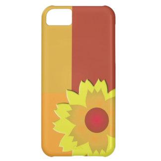 Bloque del color del girasol funda para iPhone 5C