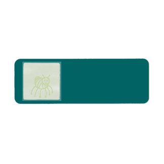 Bloque del verde del bebé etiqueta de remite