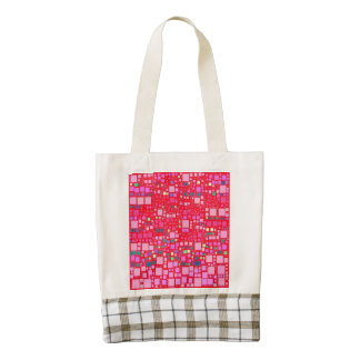 bloque en el bloque, rosa fuerte (c) bolsa tote zazzle HEART