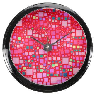 bloque en el bloque, rosa fuerte (c) relojes acuario