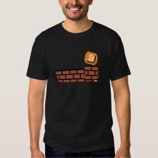 Bloque estupendo de Bitcoin (camisa de los colores Playera