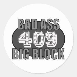 bloque grande 409 pegatina redonda