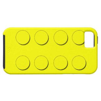 Bloque hueco plástico (amarillo) funda para iPhone 5 tough