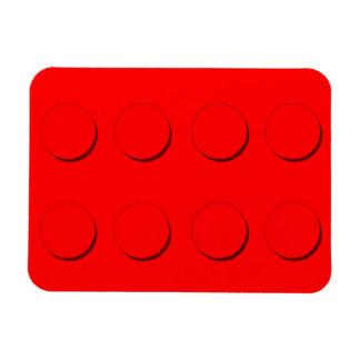 Bloque hueco plástico (rojo) imán rectangular