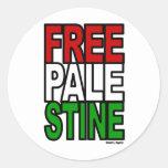 Bloque libre de Palestina Etiqueta Redonda