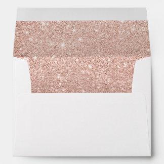 Bloque moderno del color del oro del ombre del sobres