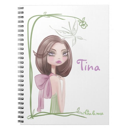 Bloque notas, para muchacha cuaderno
