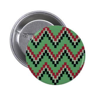 Bloque occidental verde Chevron Pin Redondo De 2 Pulgadas