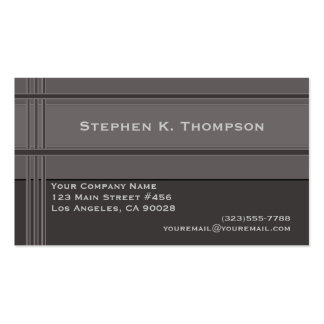 Bloque profesional gris de las rayas tarjetas de visita