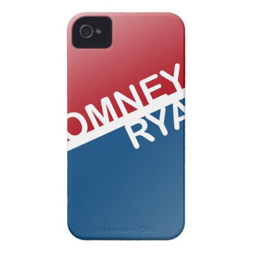 BLOQUE RETRO DE ROMNEY RYAN iPhone 4 Case-Mate PROTECTORES