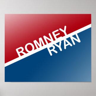 BLOQUE RETRO DE ROMNEY RYAN POSTERS