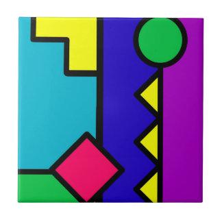 Bloque retro del color 80s azulejo cuadrado pequeño
