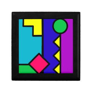Bloque retro del color 80s caja de recuerdo