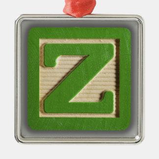 Bloque Z del juguete del alfabeto Adorno Navideño Cuadrado De Metal