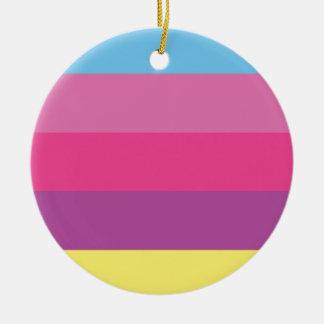 Bloqueo colorido del color de las rayas adornos de navidad