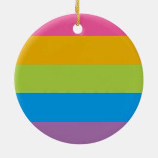 Bloqueo colorido del color de las rayas adorno de navidad