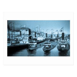 Bloqueo de barcos, Ste. Santo Marie Postales