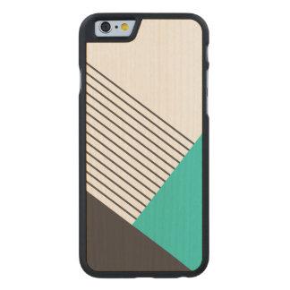 Bloqueo geométrico moderno del color funda de iPhone 6 carved® de arce