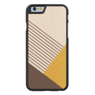 Bloqueo geométrico moderno del color funda de iPhone 6 carved® slim de arce