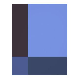 """Bloques bonitos del azul folleto 8.5"""" x 11"""""""