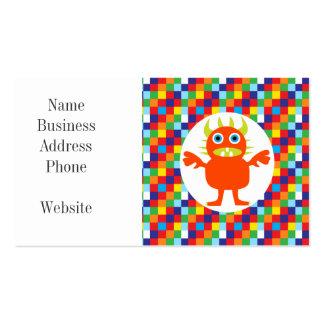 Bloques brillantes del color de la criatura tarjetas de visita