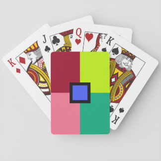 Bloques coloridos barajas de cartas