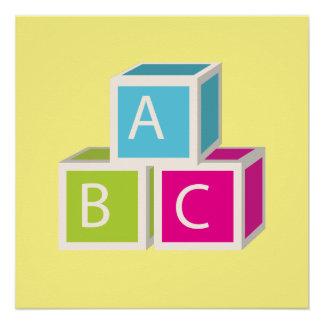Bloques coloridos del alfabeto perfect poster